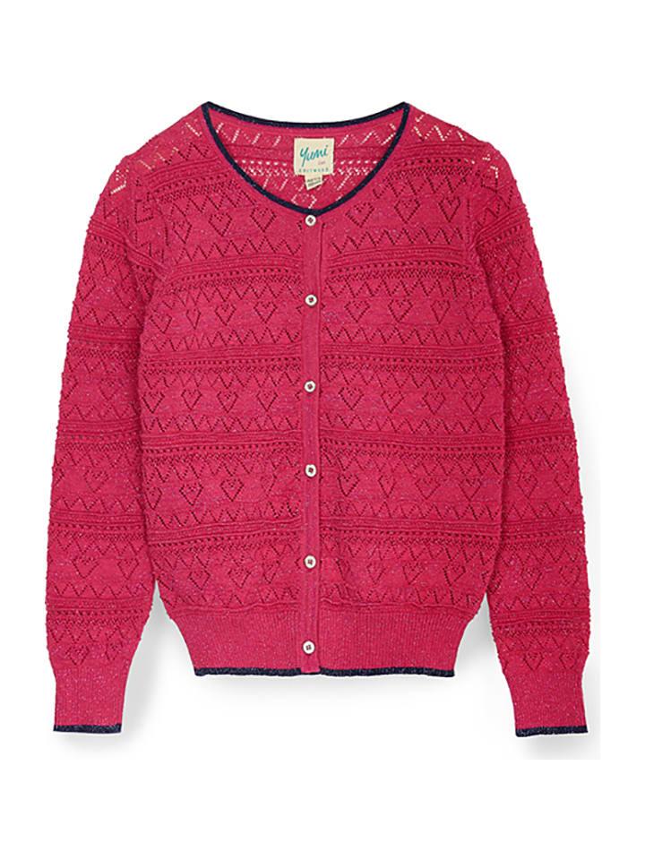 Yumi Girl Cardigan in Pink