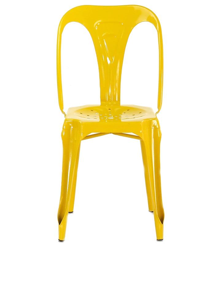 """Studio Krzesło """"Indus"""" w kolorze żółtym - 40 x 82 x 46 cm"""