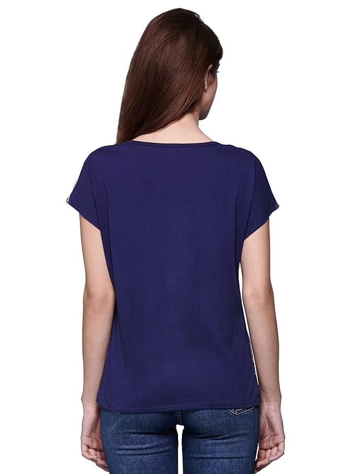 Yumi Shirt in Blau/ Rosa