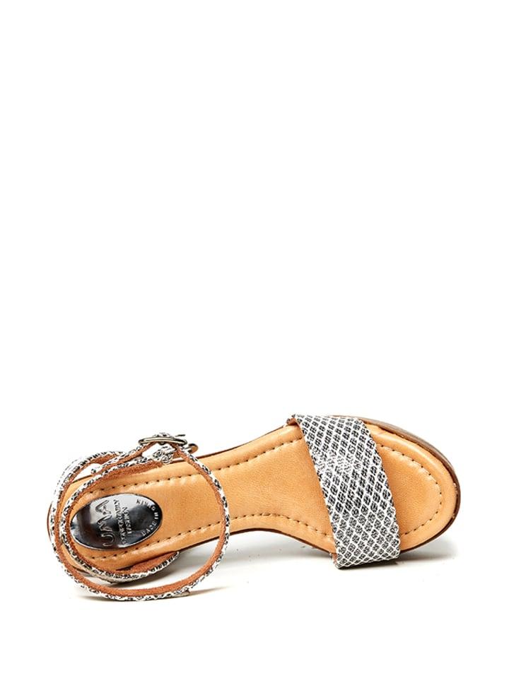 Uma Sandaletten in Silber