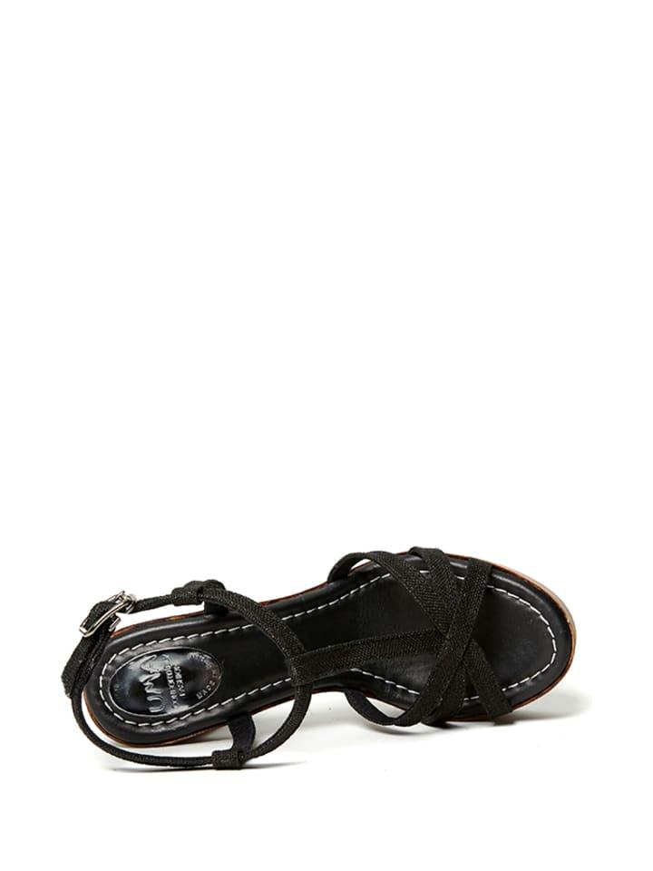 Uma Sandaletten in Schwarz