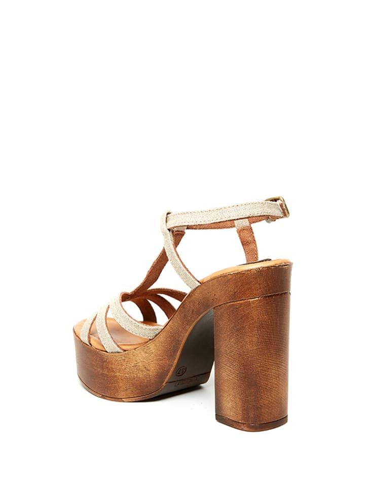 Uma Sandaletten in Beige