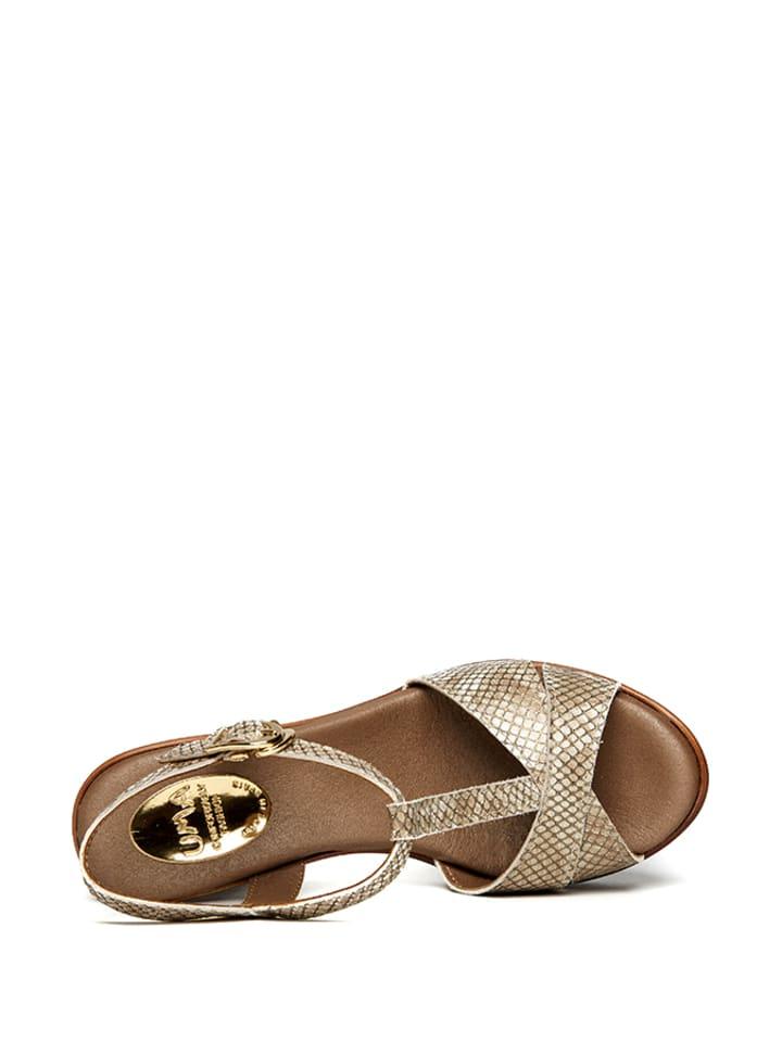 Uma Sandaletten in Gold
