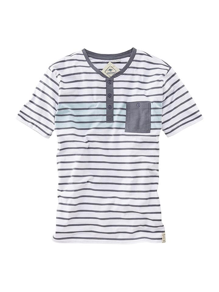 Roadsign Shirt in Weiß/ Grau