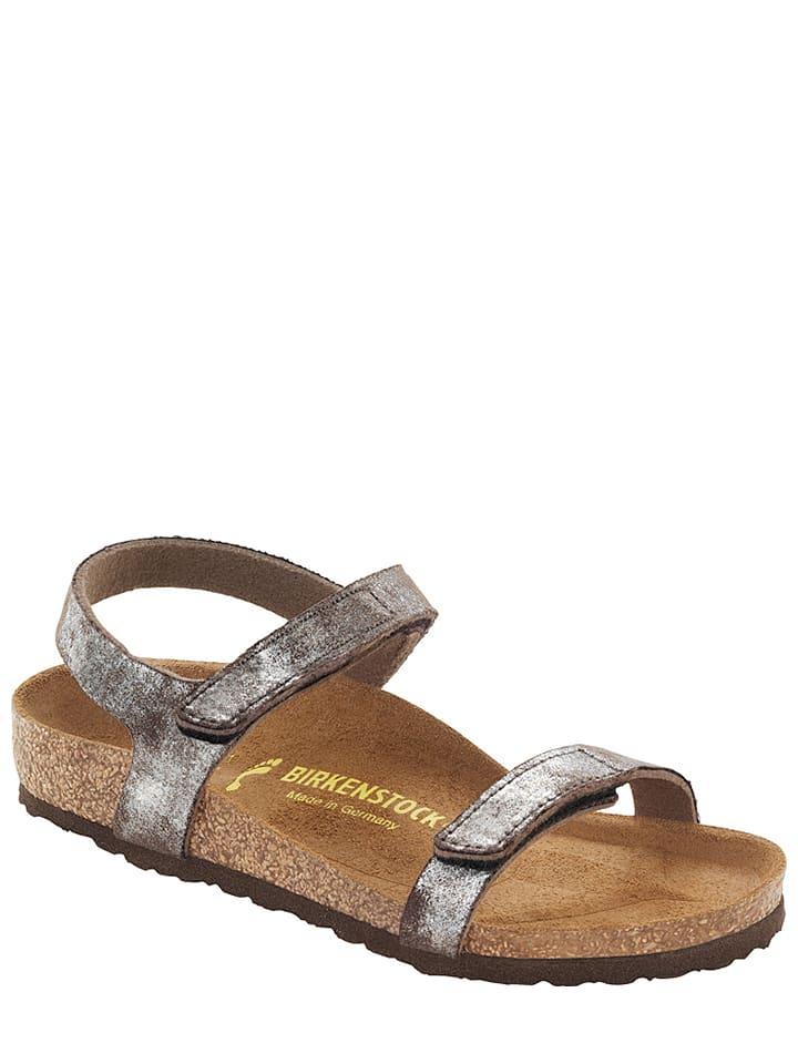 "Birkenstock Sandalen ""Yala"" in Taupe/ Silber - Weite S"
