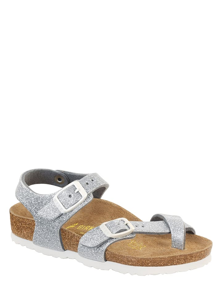 "Birkenstock Sandalen ""Taormina"" in Silber - Weite N"