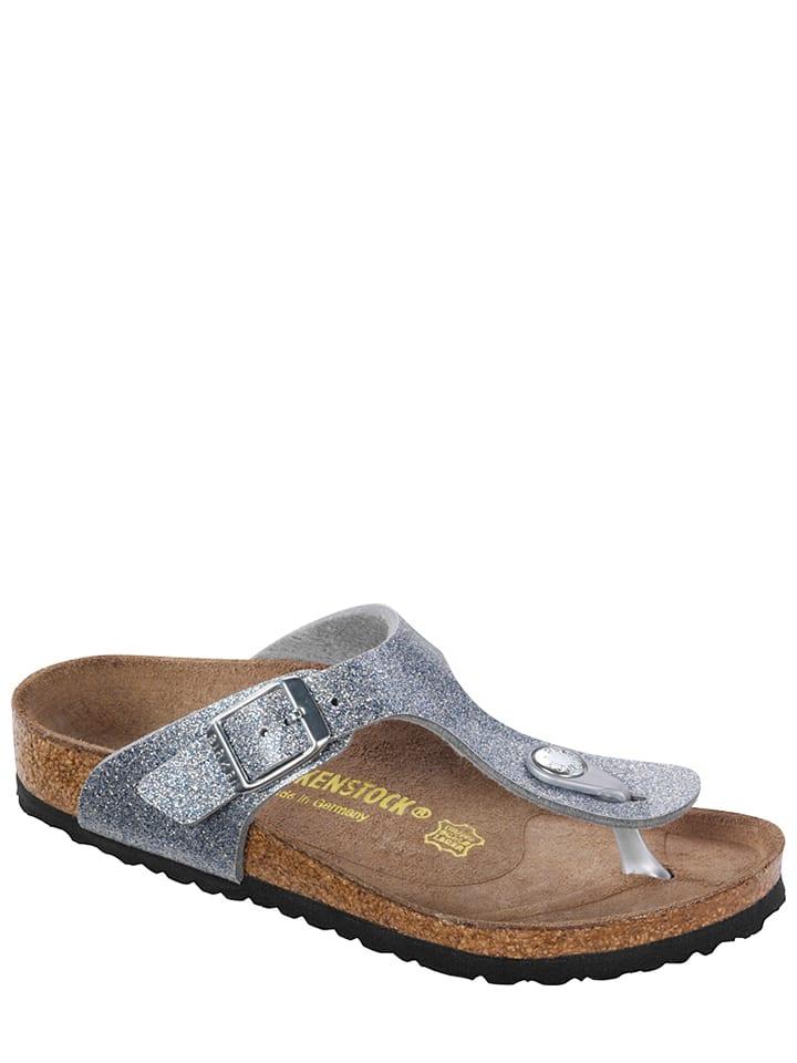 Birkenstock Slippers ''Gizeh'' zilverkleurig - wijdte S