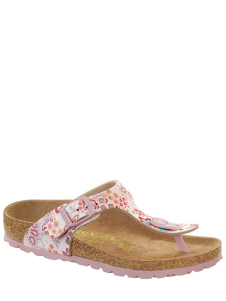 """Birkenstock Pantoletten """"Gizeh"""" in Weiß/ Pink - Weite S"""