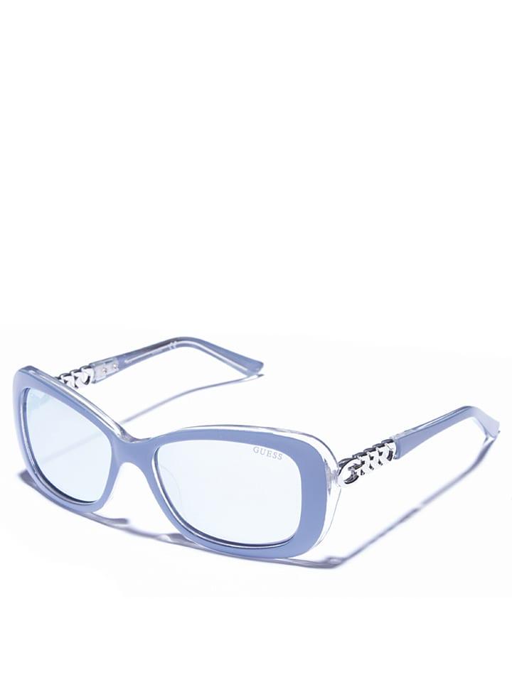 Guess - Lunettes de soleil - femme - bleu clair argenté   Outlet limango 9f5823dea608