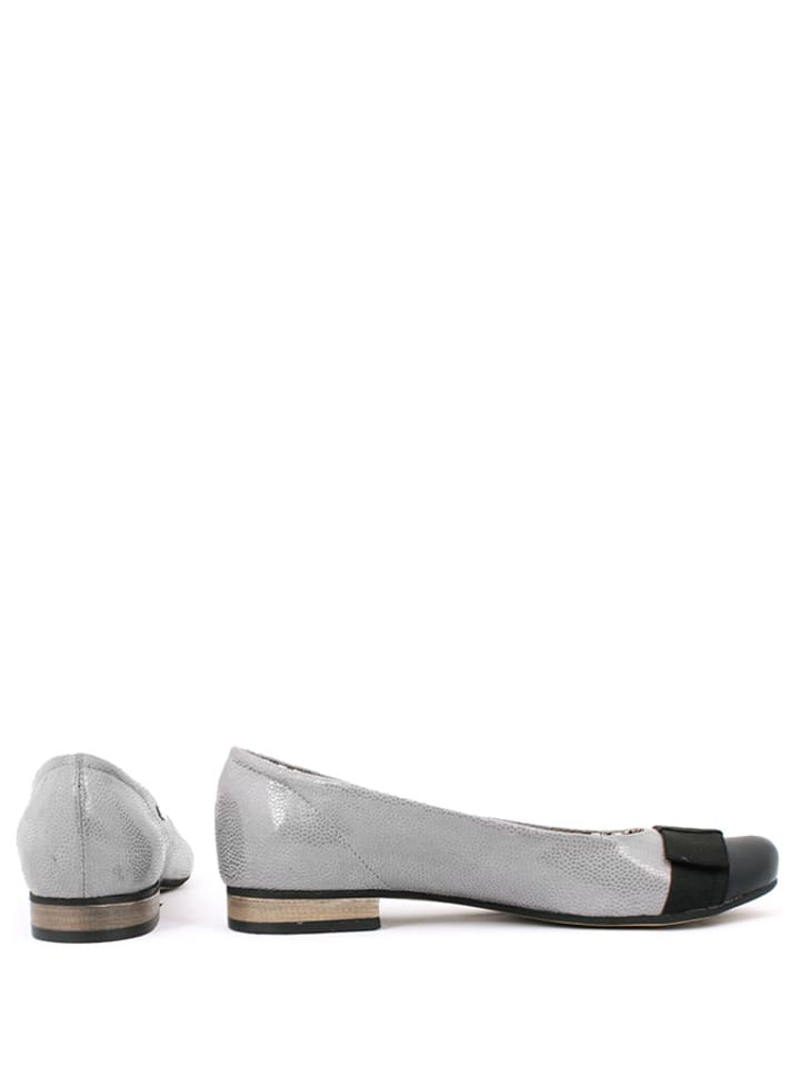 Zapato Leder-Ballerinas in Hellgrau
