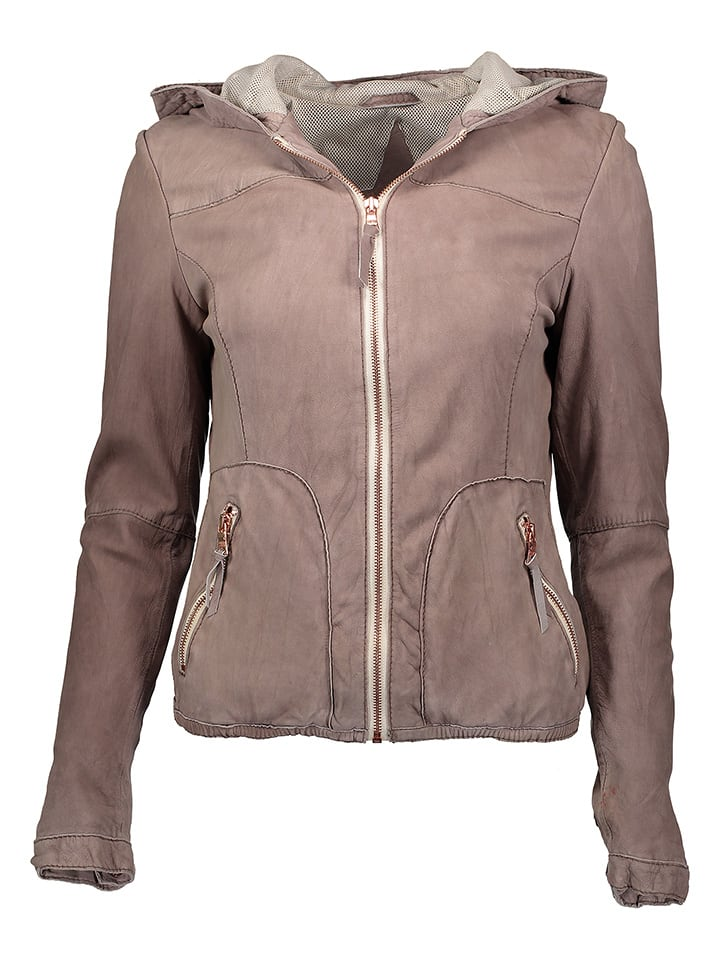 "FREAKY NATION Lederjacke ""Cloud"" in Taupe"