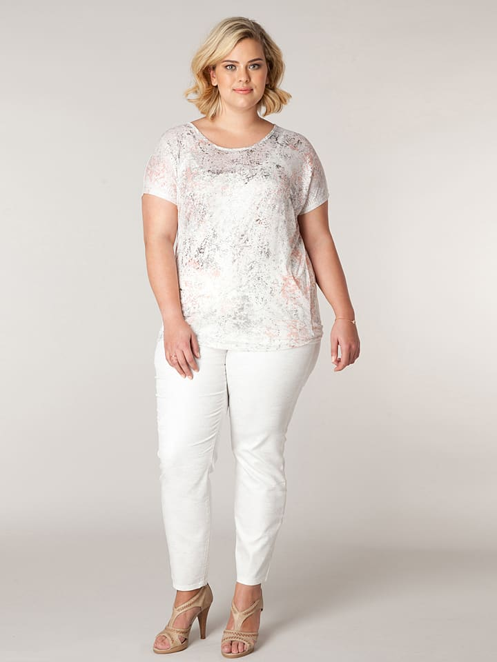 "X-two Shirt ""Jeanette"" in Creme"