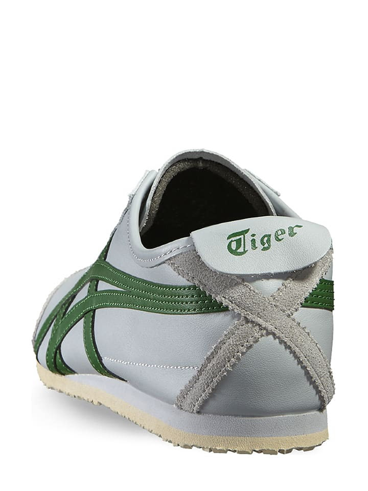 "-Onitsuka Tiger Leder-Trainingsschuhe ""Mexico 66"" in Grau"