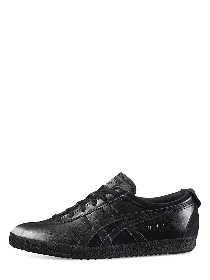 "-Onitsuka Tiger Leder-Trainingsschuhe ""Mexico Delegation"" in Schwarz"