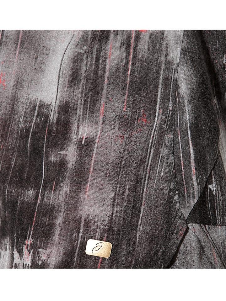 Asics Funktionsshirt in Grau/ Schwarz