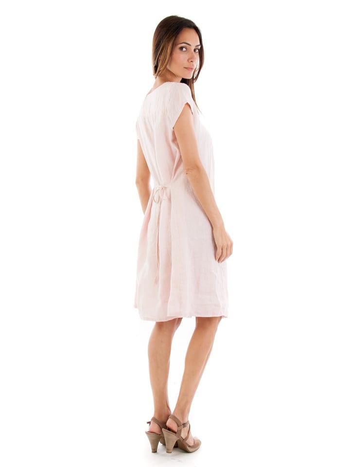 """Maison du Lin Leinen-Kleid """"Paris"""" in Rosa"""