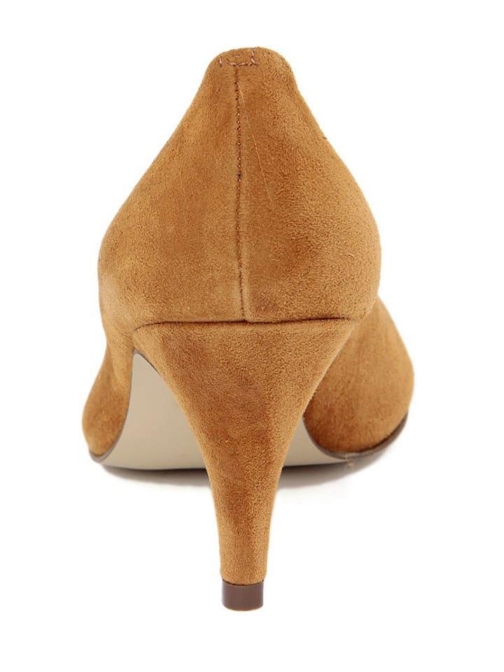 EYE Leder-Pumps in Camel