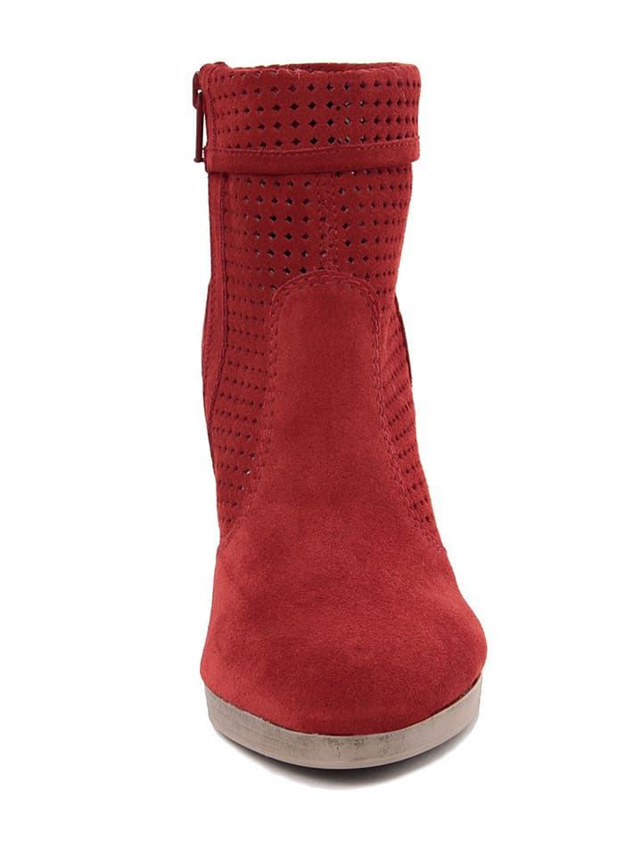 EYE Leder-Stiefeletten in Rot