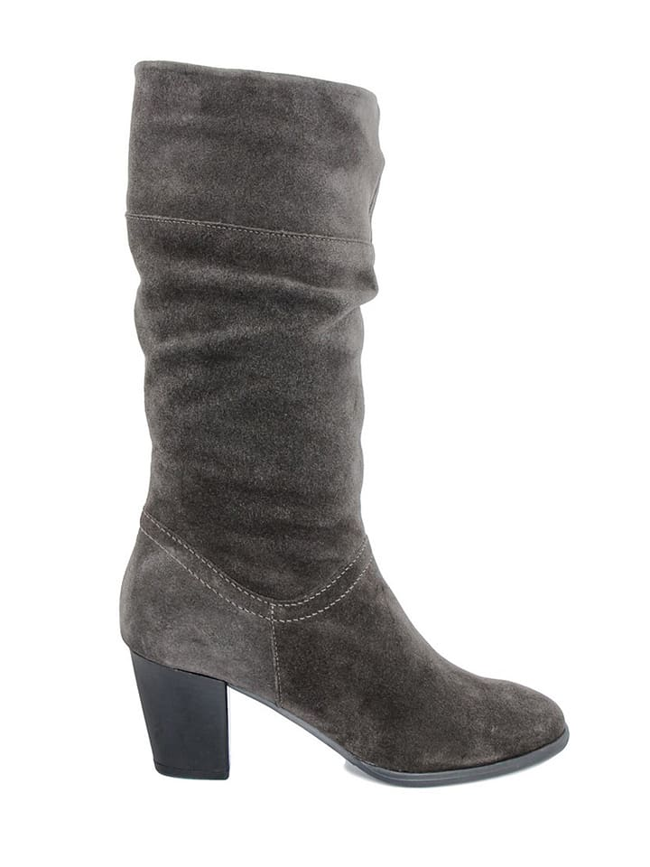 EYE Leder-Stiefel in Anthrazit