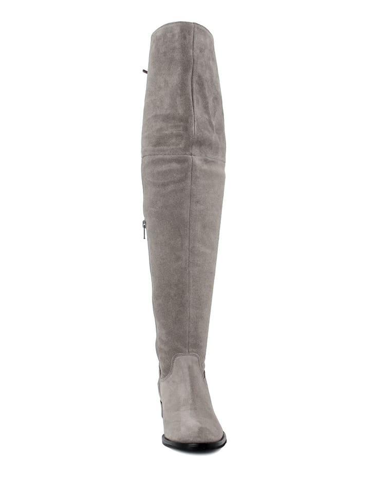 EYE Leder-Stiefel in Taupe