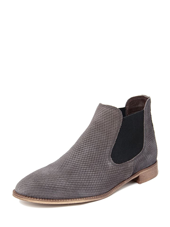 EYE Leder-Chelsea-Boots in Taupe
