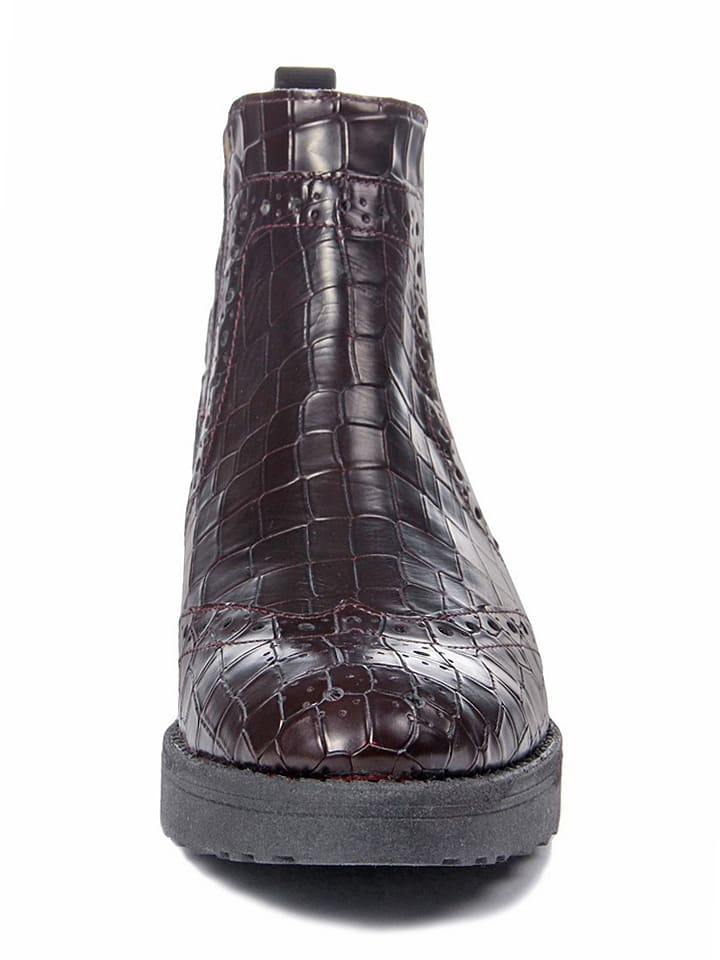 EYE Leder-Chelsea-Boots in Bordeaux