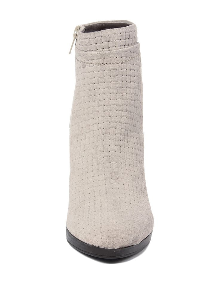 EYE Leder-Stiefeletten in Creme