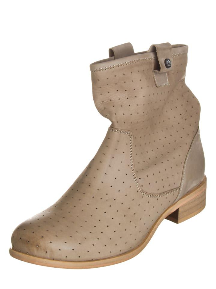 Otto Kern Leder-Boots in Beige