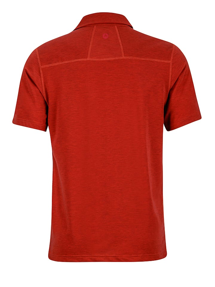 """Marmot Funktionspoloshirt """"Wallace"""" in Rot"""