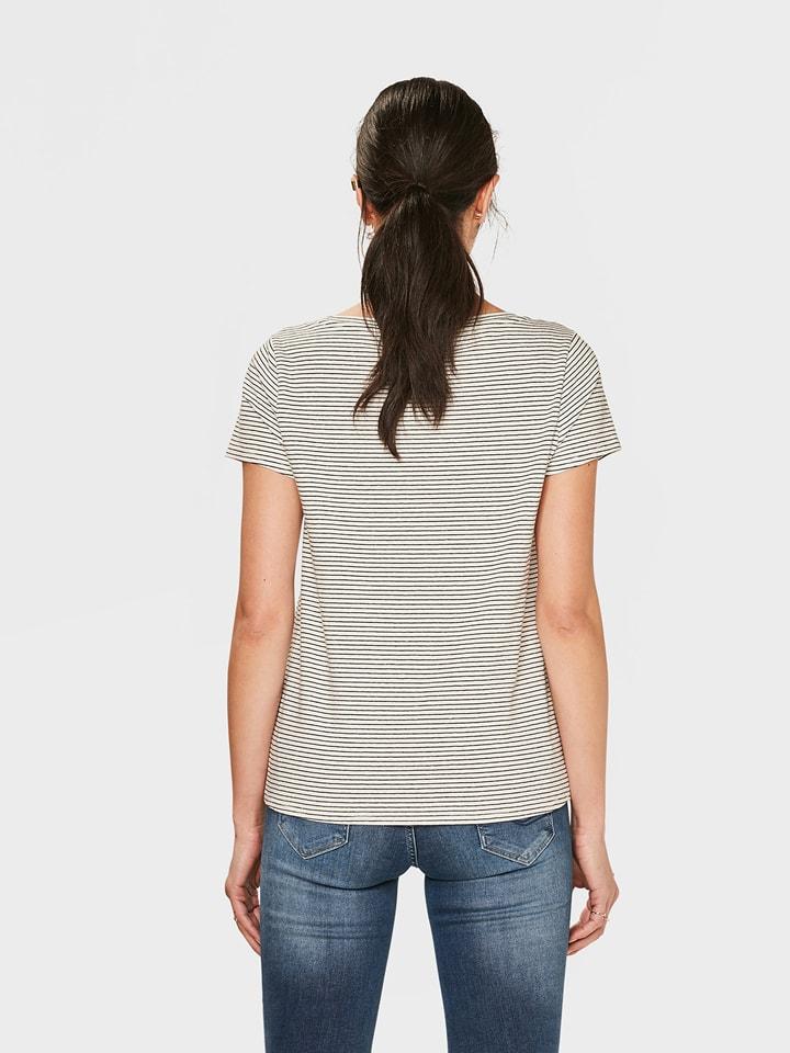 WE Fashion Shirt in Weiß/ Dunkelblau