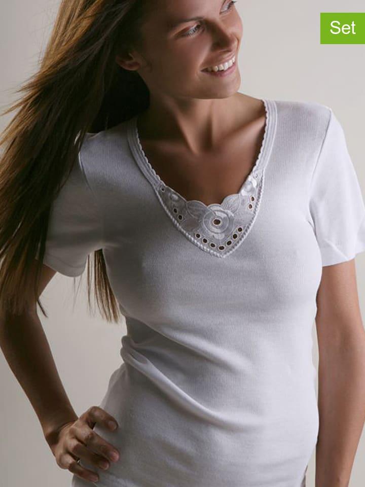 Ab tricot 2er-Set: Shirts in Weiß