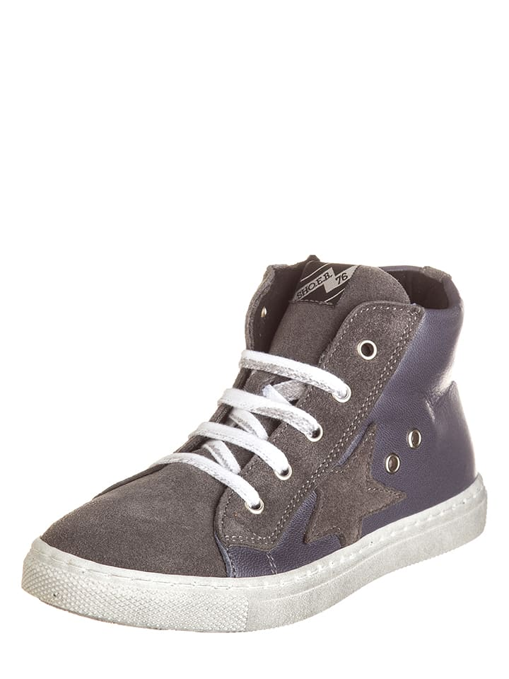 EB Shoes Leder-Sneakers in Anthrazit