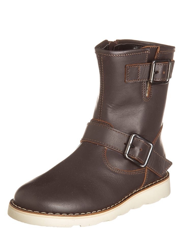 EB Shoes Leder-Stiefel in Braun