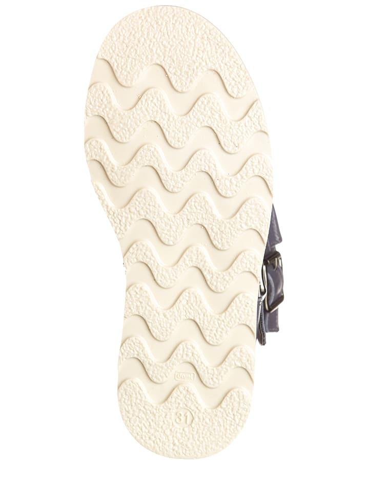 EB Shoes Leder-Stiefel in Blaugrau