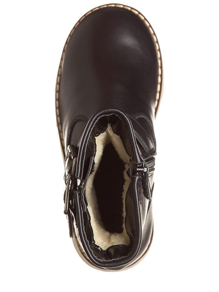 EB Shoes Leder-Stiefel in Schwarz