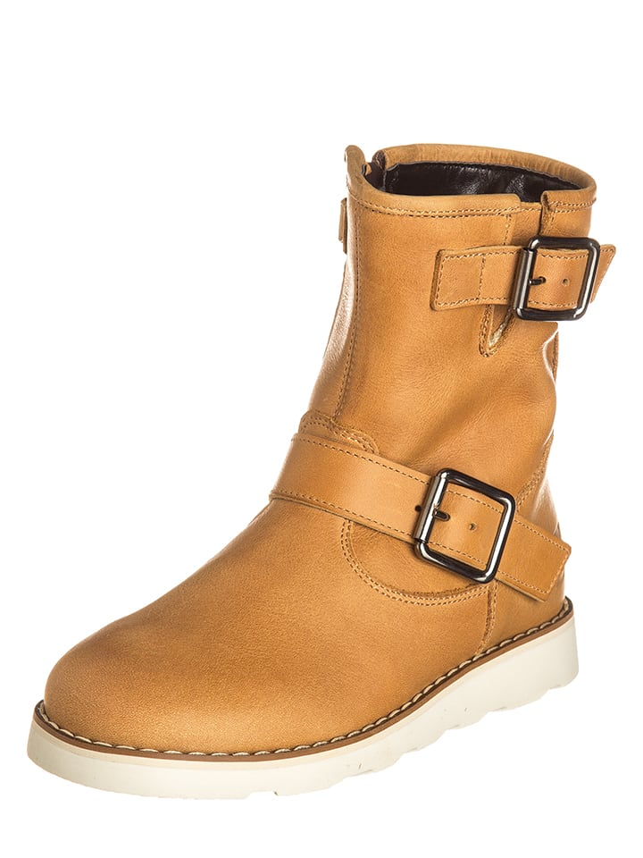 EB Shoes Leder-Stiefel in Hellbraun