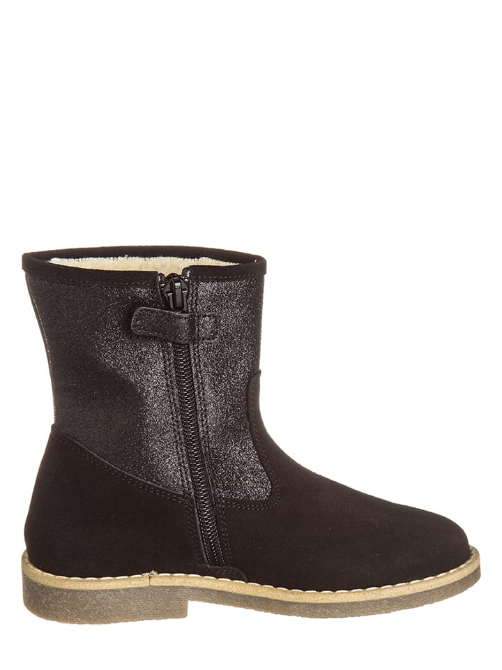 EB Shoes Leder-Stiefel in Schwarz