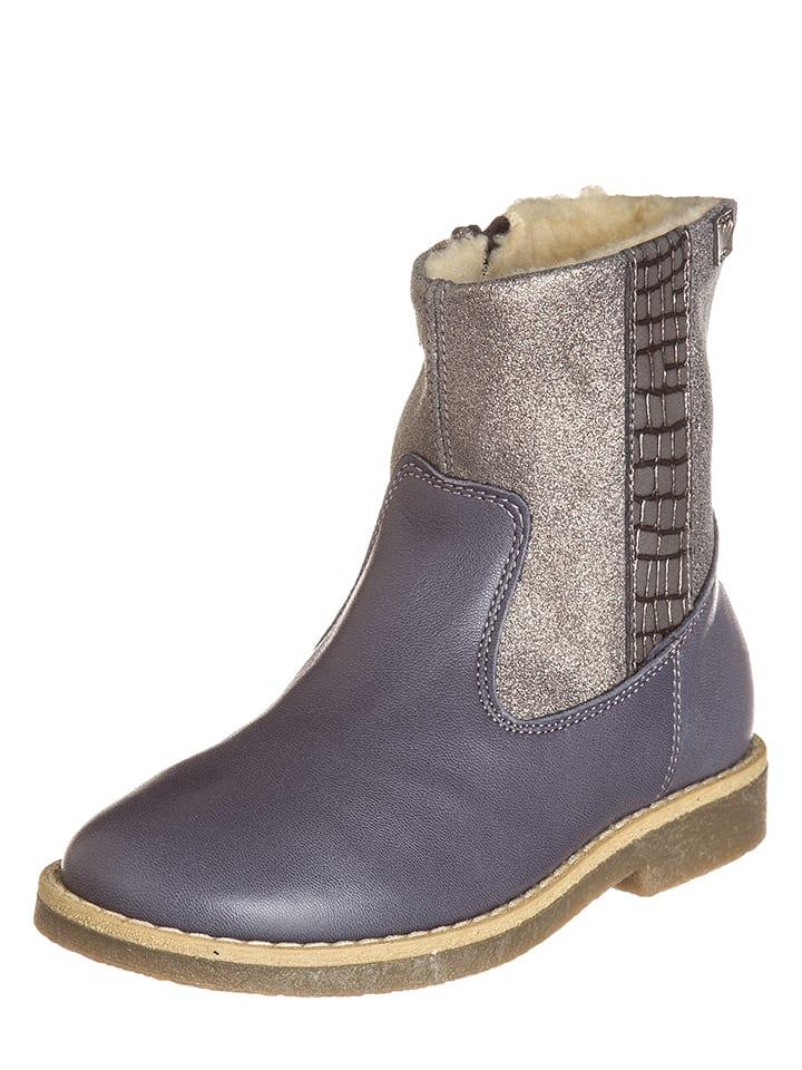 EB Shoes Leder-Stiefel in Grau