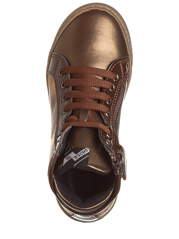 EB Shoes Leder-Sneakers in Braun