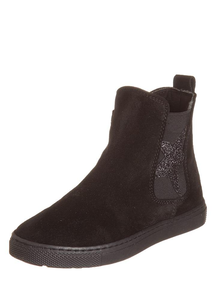 EB Shoes Skórzane botki w kolorze czarnym