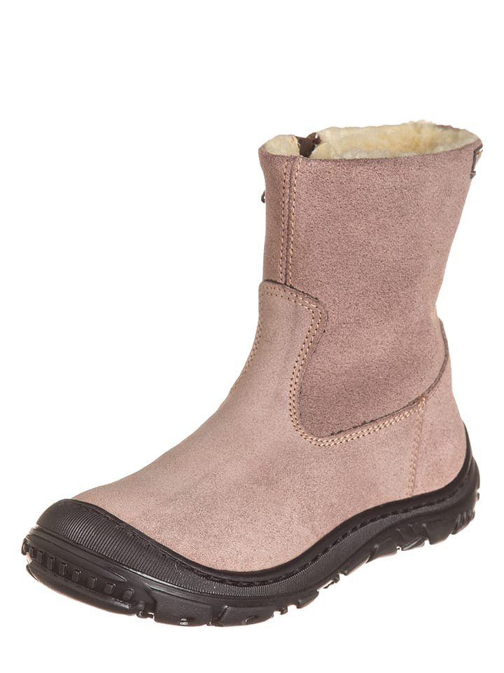 EB Shoes Leder-Stiefeletten in Rosa