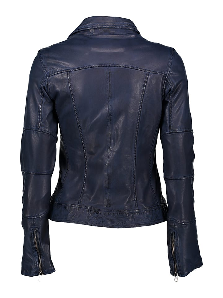 "Punchball Lederjacke ""Billy"" in Blau"