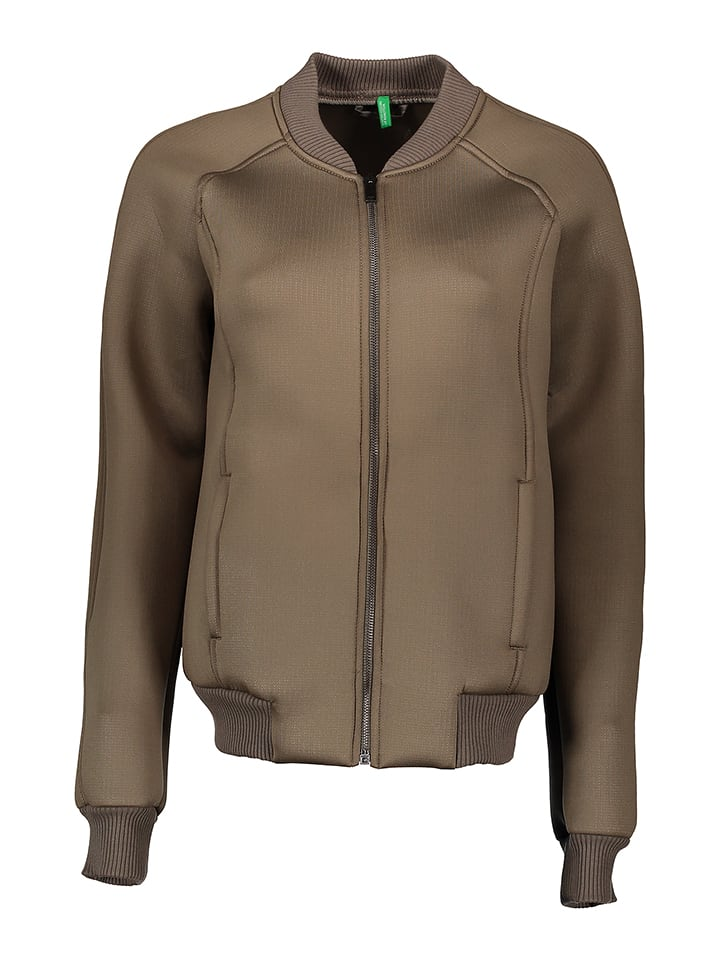 Benetton Jacke in Taupe