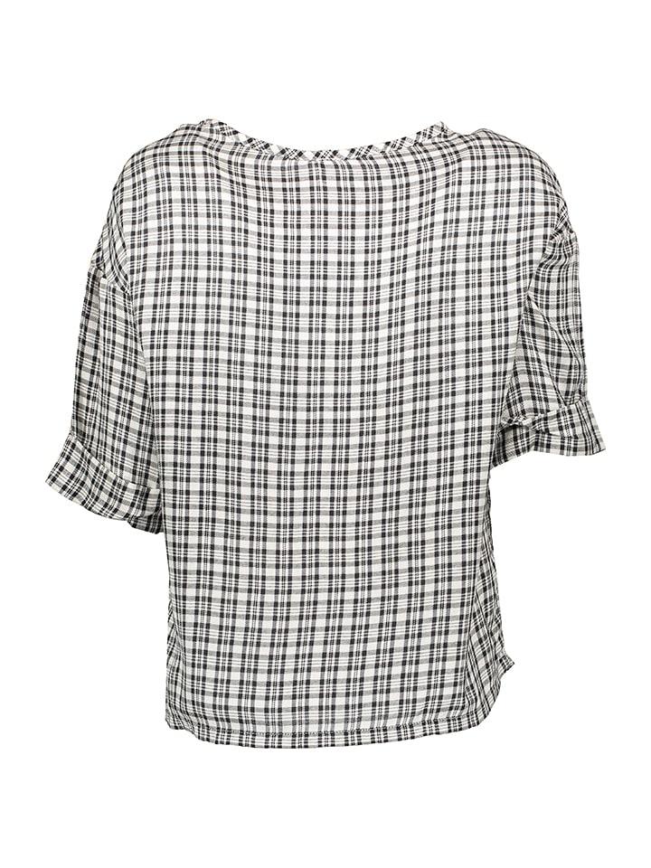 Benetton Shirt in Schwarz/ Weiß