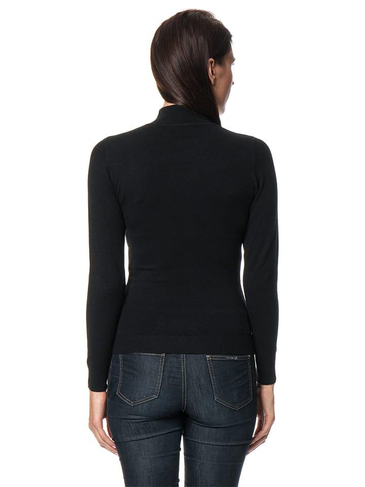 ASSUILI Pullover in Schwarz