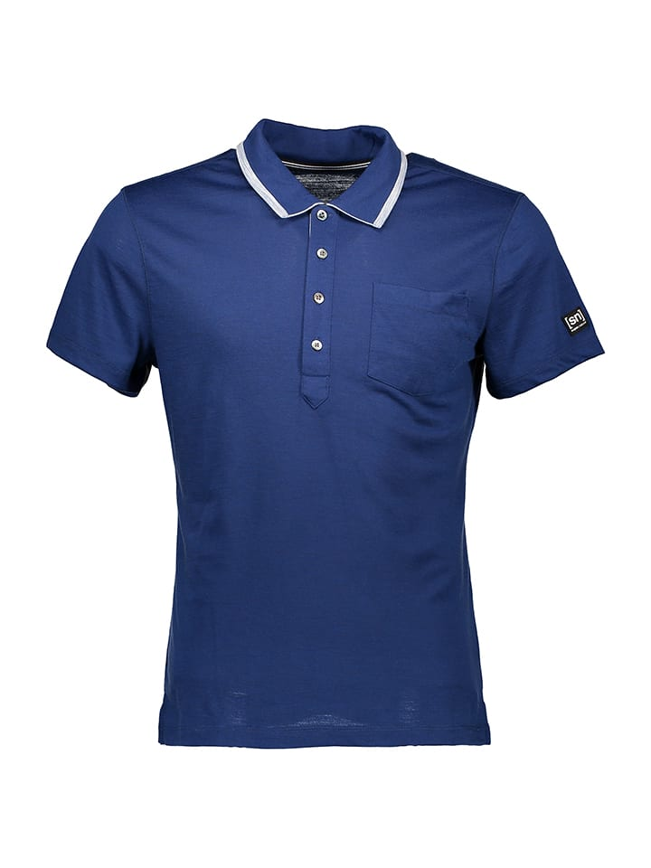 Super.natural Poloshirt in Dunkelblau