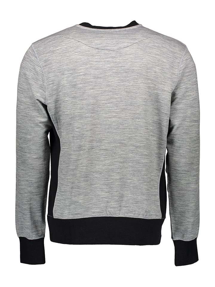 Super.natural Shirt in Grau/ Schwarz