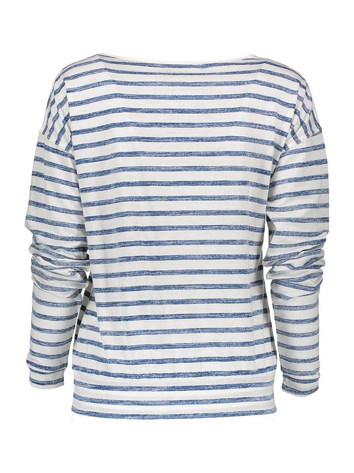 Super.natural Shirt in Weiß/ Blau