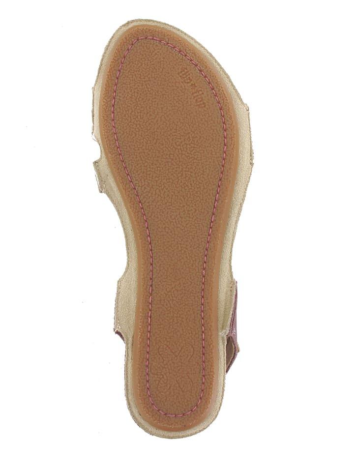 """Flip Flop Leder-Sandalen """"Plantage"""" in Rosa"""