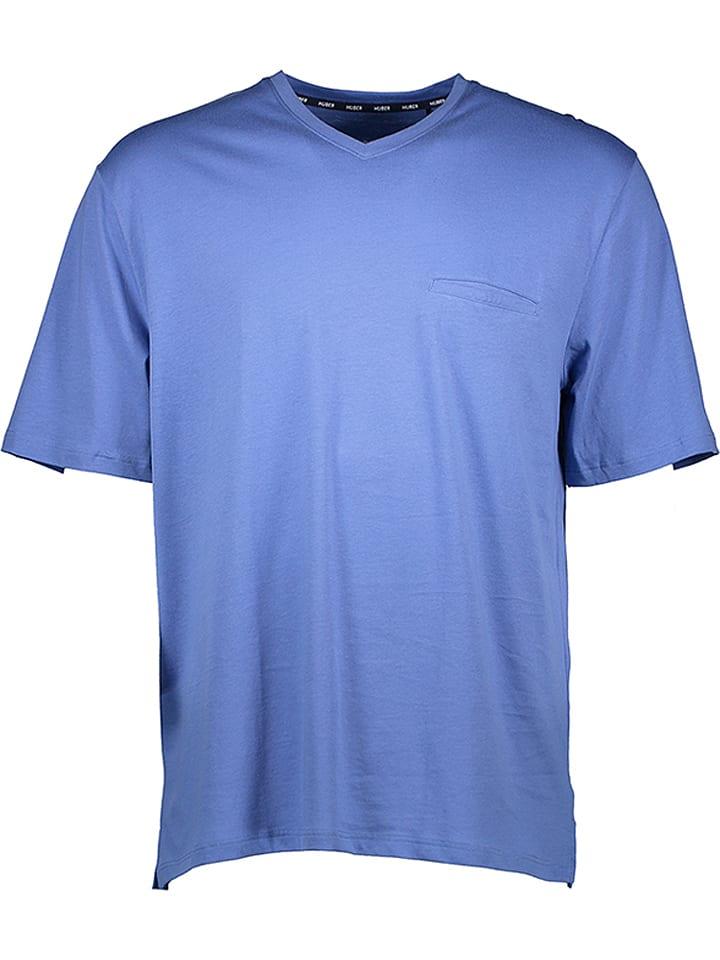HUBER Dessous Pyjama-Oberteil in Blau